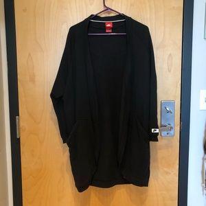 Nike fleece long cardigan
